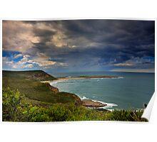 Coastal Storm Brewing Poster