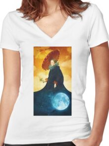 Queen of the Night Women's Fitted V-Neck T-Shirt
