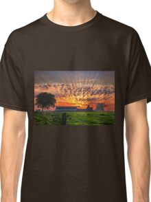 Sunrise over Farm in Courtils, Normandy Coast of France Classic T-Shirt