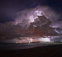 Summer beach Storm by Steve D