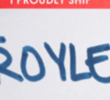 Hello, I Proudly Ship Troyler - Name Tag Sticker