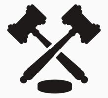 Crossed judge hammers by Designzz