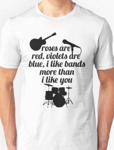 Bands Poem - 5sos / 1d T-Shirt