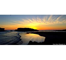 Lady of sunsets Photographic Print