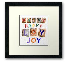 Happy Happy Joy Joy Framed Print