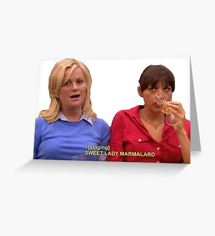 Ann and leslie Greeting Card
