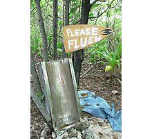 Please Flush   Photographic Print