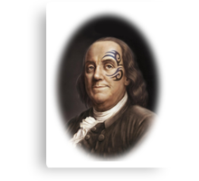 Ben Franklin Original Gangsta' Canvas Print