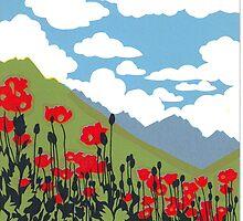 mountain poppies  by CJ   Jones