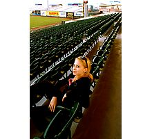 Young girl in stadium Photographic Print