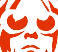 KURT COBAIN ARTWORK red Sticker