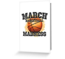 March Basketball Madness Greeting Card