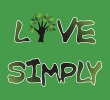 Live Simply - tree Baby Tee