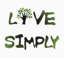Live Simply - tree Kids Tee