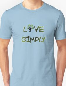 Live Simply - tree T-Shirt