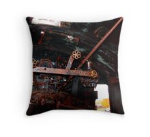 Old Locomotive Speed Controls for the Steam Engine    Throw Pillow