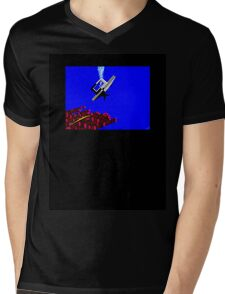 Snake Diving Mens V-Neck T-Shirt
