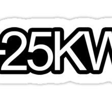 +25KW Sticker