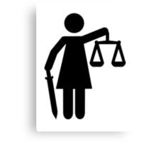 Justitia justice Canvas Print