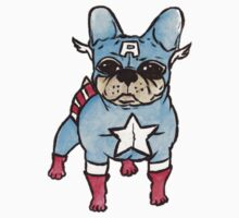 Captain America x French Bulldog Kids Clothes