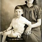 Me and my mum 1940 by Woodie