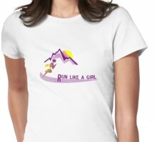 Run like a girl Womens Fitted T-Shirt