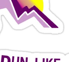 Run like a girl Sticker