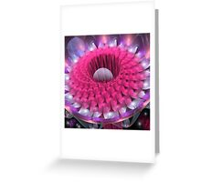 Space flower Greeting Card