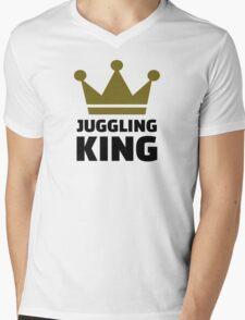 Juggling King Mens V-Neck T-Shirt
