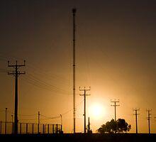 Sunset in Cook - Nullarbor Plain, South Australia by Stephen Permezel