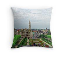 Mont des Arts, Brussels, Belgium Throw Pillow