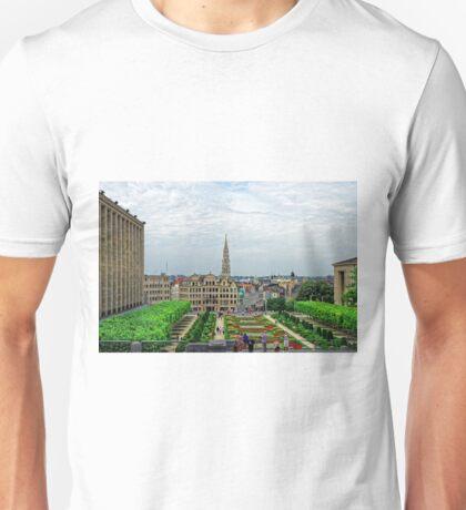 Mont des Arts, Brussels, Belgium Unisex T-Shirt