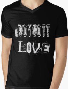 Boycott Love Mens V-Neck T-Shirt