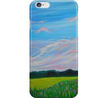 Sweet Calm Lavender Field painting fine art print iPhone Case/Skin
