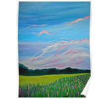 Sweet Calm Lavender Field painting fine art print Poster