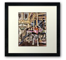 Carousel in Downtown Plaza Framed Print