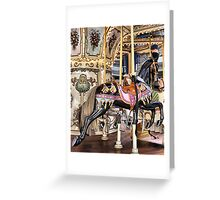 Carousel in Downtown Plaza Greeting Card