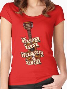 Always Play From your Heart Women's Fitted Scoop T-Shirt