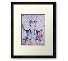 Water Color Elephant Framed Print
