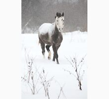 Snow Covered Horse in a Field Unisex T-Shirt