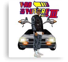 Fabolous Back To The Future III Canvas Print