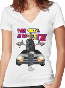 Fabolous Back To The Future III Women's Fitted V-Neck T-Shirt