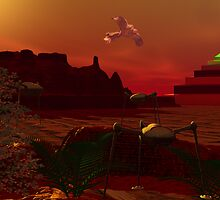 Happier Times - Mars by Sazzart