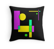 Color Blocks Purple Throw Pillow