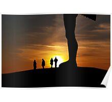 Angel Sunset Poster