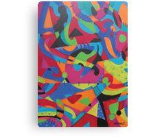 Abstract Crayola Canvas Print