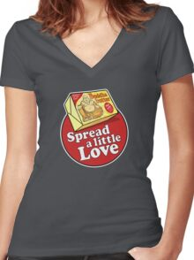 Buddha Butter Women's Fitted V-Neck T-Shirt