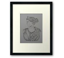 Athena Bust Framed Print
