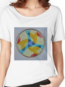 Mandala 4 - Red, Yellow, And Blue Women's Relaxed Fit T-Shirt