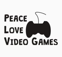 Peace Love Video Games Kids Clothes